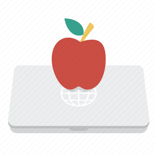 apple, education, laptop, notebook icon