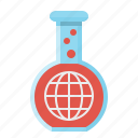 chemical, experiment, globe, test, tube icon