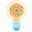 atom, bulb, lamp, light, lightbulb, molecular, physics icon