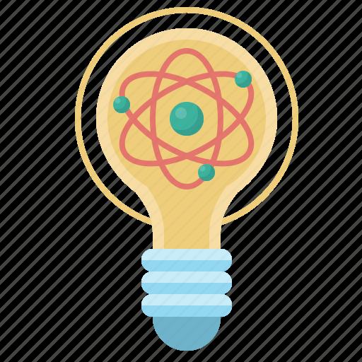 atom, bulb, lamp, light, lightbulb, molecular, physics icon