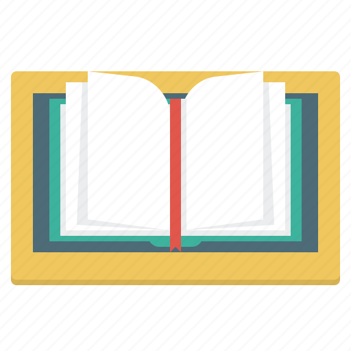 book, e-learning, ebook, online library, tablet icon