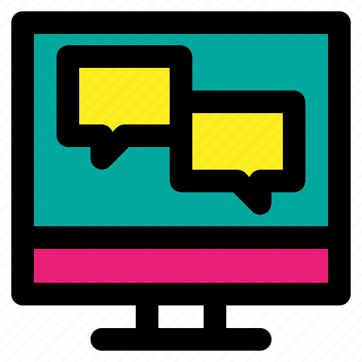 chat, consulting, discuss, message, online icon