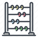 abacus, calculate, education, knowledge, school, scores, study icon