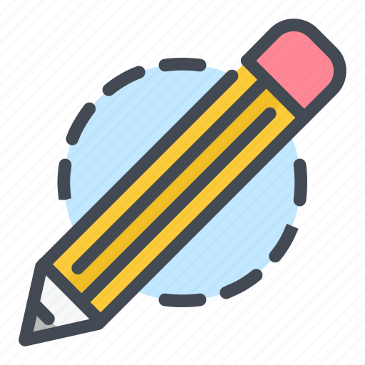 draw, edit, education, pen, pencil, school, write icon