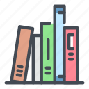 book, books, knowledge, learning, library, read, study icon