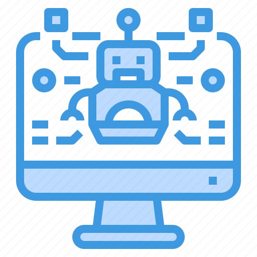 computer, education, learning, robot, school, student, study icon