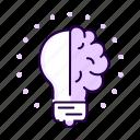 solution, bulb, innovation, idea, light, brain
