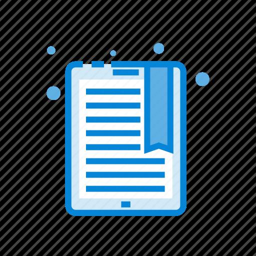 book, digital, e, reading, tablet icon