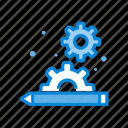 apps, digital, education, gear, setting icon