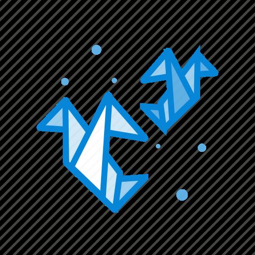 bird, ideas, media, network, origami, sharing icon