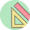 creative, design, geometry, measure, ruler, tool, triangle icon