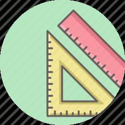 creative, design, geometry, measure, ruler, tool, triangle icon