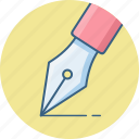 creative, design, designing, graphic, ink, nib, pen icon