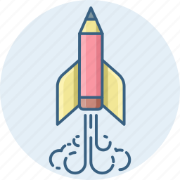launch, missile, planet, rocket, space, spaceship, startup icon
