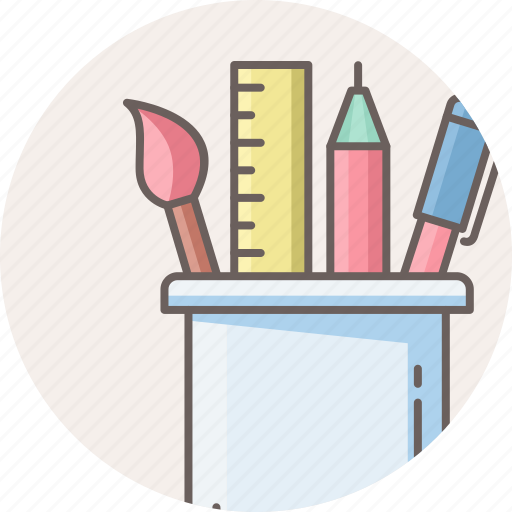 office, pen, pencil, stationary, stationery, tools, work icon