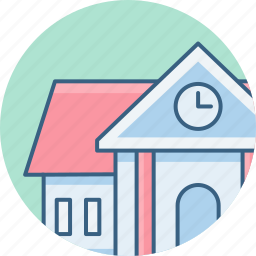 apartment, building, court, home, office, property, villa icon