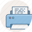 document, letter, page, paper, print, printer, printing icon