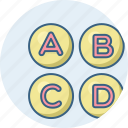abc, alphabet, alphabets, english, language, latin, letter icon