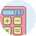 calc, calculate, calculating, calculation, calculator, math, maths icon