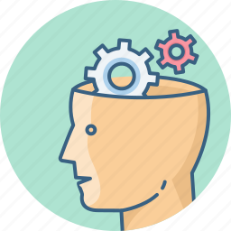 brain, brainwash, head, human, mind, setting, settings icon