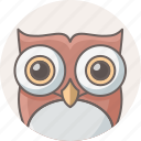 cartoon, education, funny, owl, professor, smart classes, teacher icon