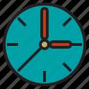 class, clock, education, school, student icon