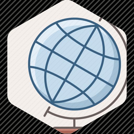 abroad, education, globe, international, learning, study icon