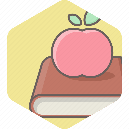 apple, book, education, knowledge, learning icon