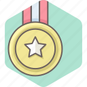 achievement, award, gold, medal, win, winner icon