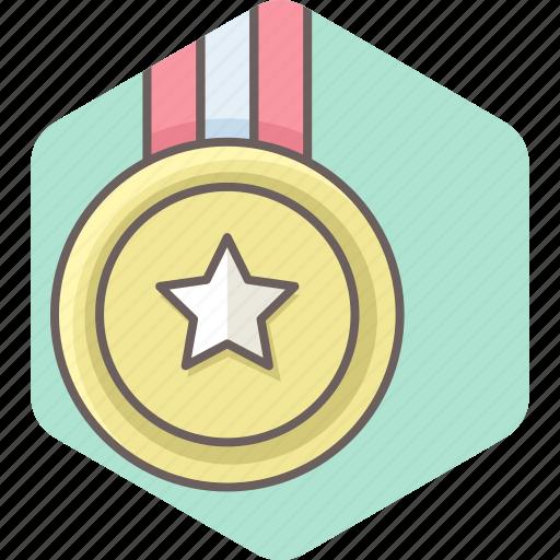achievement, award, gold, medal, win, winner icon