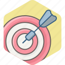 achievement, aim, dartboard, goal, success, target icon