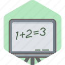 calculate, calculation, class, math, mathematics, maths, school icon