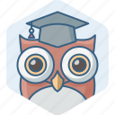 classroom, education, owl, smartclass, smartclasses, study, teacher icon