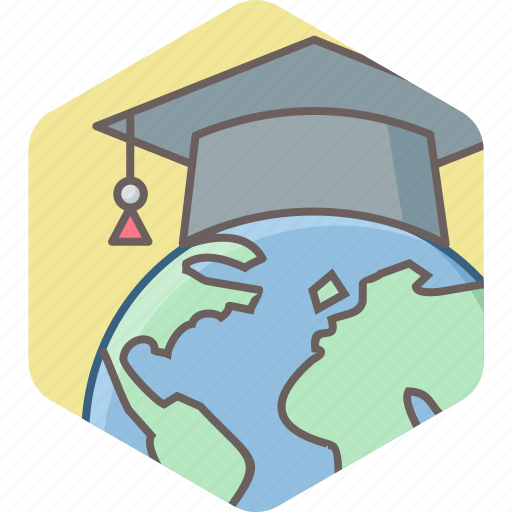 distance, education, graduate, knowledge, learning, student, university icon