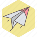 airplane, paper, plane, post, send icon