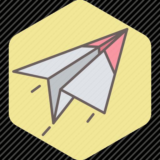 airplane, paper, plane, post, send icon