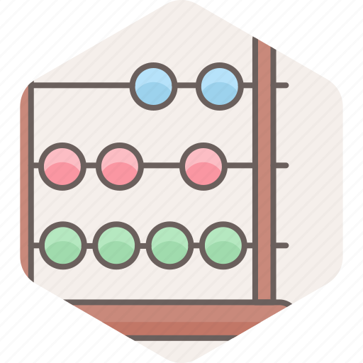 abacus, education, knowledge, learning icon
