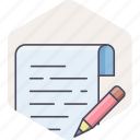 document, note, notes, page, paper, writing icon