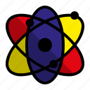 atom, education, nuclear, physics icon