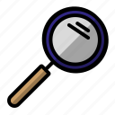 education, lup, magnifying glass icon