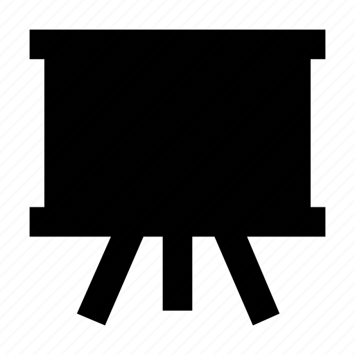 blackboard, chalk board, easel, white board, writing board icon