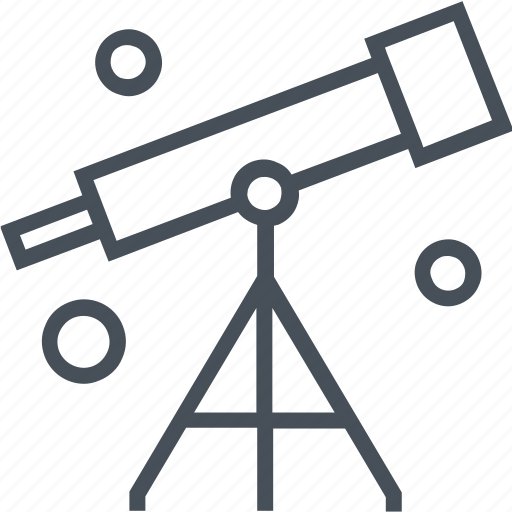 astronomy, education, lens, lesson, physics, science, telescope icon