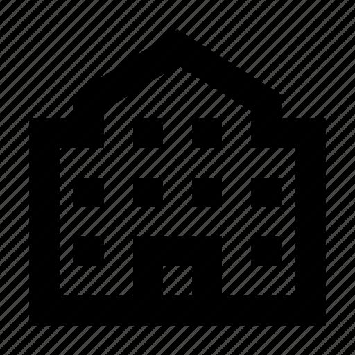 building, real estate, school, school building, university icon
