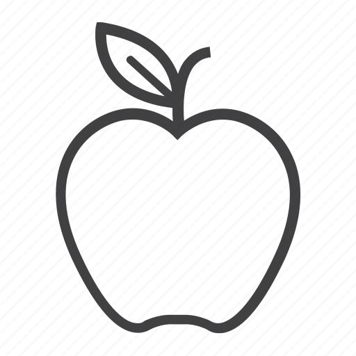 apple, diet, food, fresh, fruit, health, vegetarian icon