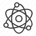 atom, education, molecular, nucleus, physics, proton, science icon