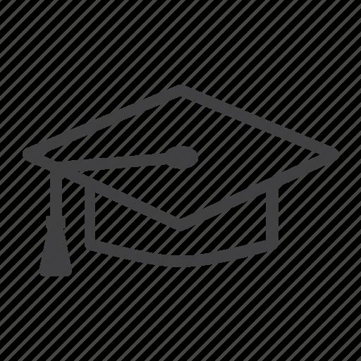 cap, diploma, education, graduate, graduation, hat, knowledge icon