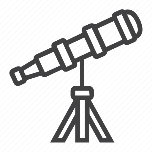 astronomy, discovery, education, planetarium, science, spyglass, telescope icon