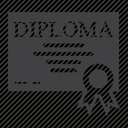 award, certificate, diploma, document, education, graduation, ribbon icon