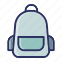 back pack, bag, education, school icon
