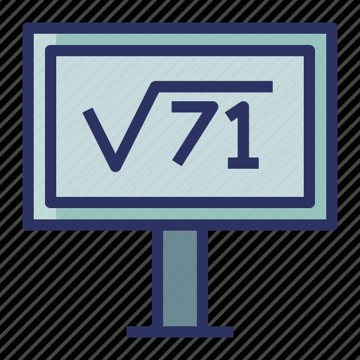 education, math, presentation, report, school icon